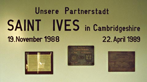 Plaques in the old Rathaus 1989